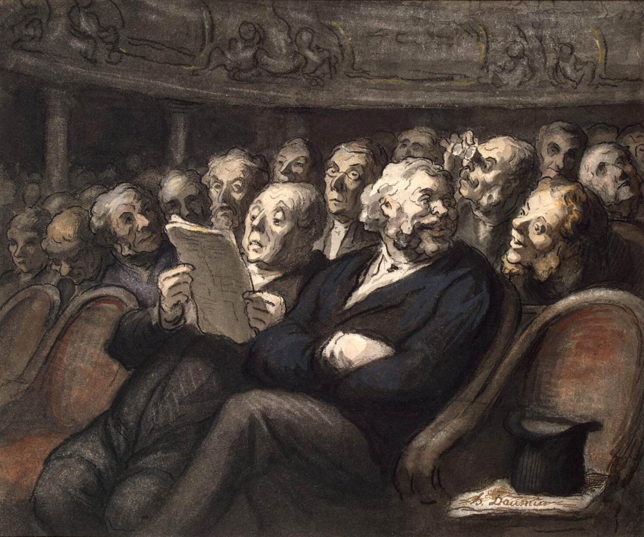 Honoré_Daumier_-_Intermission_at_the_Comédie_Française_-_WGA05962
