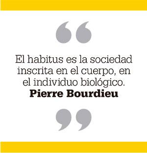 El habitus es la sociedad inscrita en el cuerpo, en el individuo biológico. Pierre Bourdieu