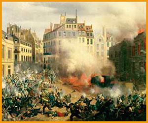 Revoluciones de inspiración socialista se extendieron por Europa después de la publicación del Manifiesto comunista. Entre ellas, la revolución de febrero de 1848 en París.