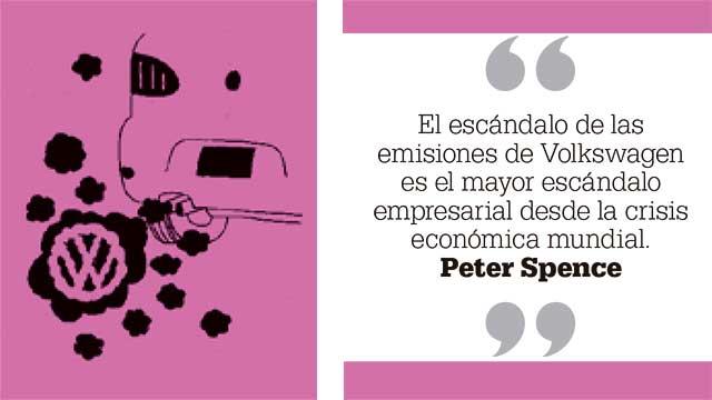 El escándalo de las emisiones de Volkswagen es el mayor escándalo empresarial desde la crisis económica mundial. Peter Spence