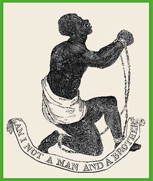 Representaciones emotivas como esta del alfarero británico Josiah Wedgwood, de 1787, proliferaron en medallones y otros objetos en apoyo de la causa abolicionista.